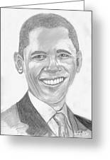 Barack Obama Greeting Card