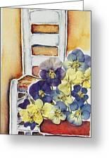 Barbara's Chair Greeting Card by Regina Ammerman