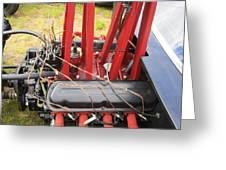Barbwire Engine Greeting Card