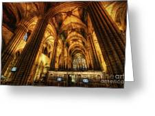 Barcelona Cathedral  Greeting Card