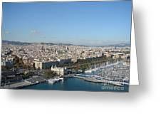 Barcelona View 2 Greeting Card