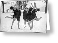 Barefoot Dance In The Snow Greeting Card