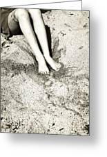 Barefoot In The Sand Greeting Card