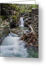 Baring Creek Waterfall And Rapids Greeting Card