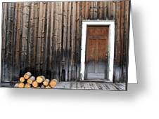 Barkerville Back Porch Greeting Card by Calvin Wray