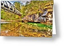 Barkshed Creek Bridge Greeting Card