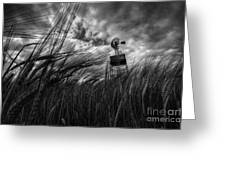 Barley And The Pump Mono Greeting Card