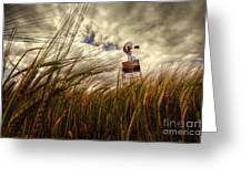 Barley And The Pump Greeting Card