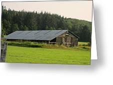 Barn And Barbwire Greeting Card