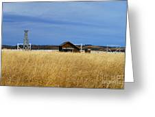 Barn And Windmill Stand Greeting Card