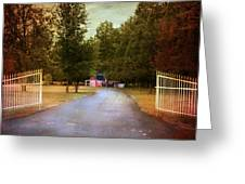 Barn Behind The Gate Greeting Card