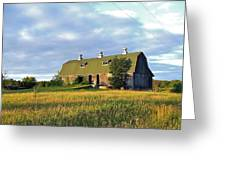 Barn In A Golden Field Greeting Card