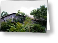 Barn In The Storm Greeting Card