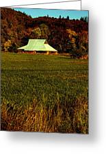 Barn In The Style Of The 60s Greeting Card