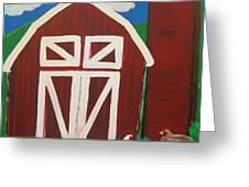 Barn On The Farm Greeting Card