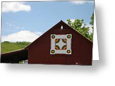 Barn Quilt - 2 Greeting Card
