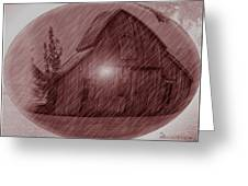 Barn Snow Globe Greeting Card