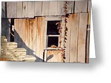 Barn Window Greeting Card