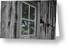 Barn Window Reflection Greeting Card