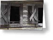 Barn Windows Greeting Card