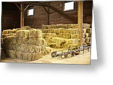 Barn With Hay Bales Greeting Card