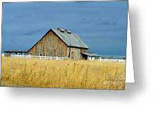 Barn With Stormy Skies Greeting Card