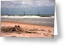 Barnacle Bill's And The Sandcastle Greeting Card