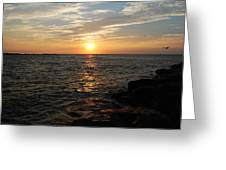 Barnagats Sunrise Greeting Card