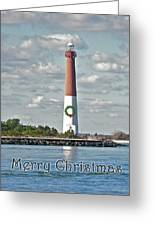 Barnegat Lighthouse - New Jersey - Christmas Card Greeting Card