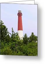 Barnegat Lighthouse Old Barney Long Beach Island Nj Greeting Card