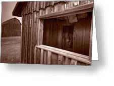 Barns Grand Tetons Greeting Card