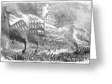 Barnums Museum Fire, 1865 Greeting Card