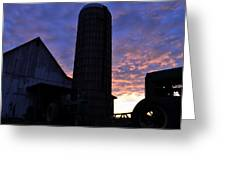 Barnyard Sunrise IIi Greeting Card