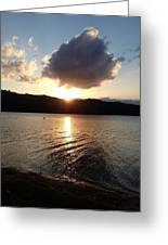 Baroon Sunset Greeting Card