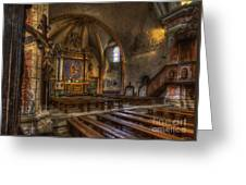 Baroque Church In Savoire France 2 Greeting Card