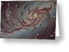 Barred Spiral Galaxy Ngc 1313 Greeting Card