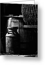 Barrel In The Barn Greeting Card