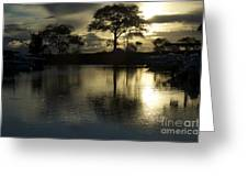 Barrie Harbour Sunrise Greeting Card