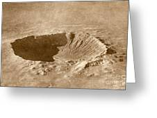 Barringer Crater Greeting Card