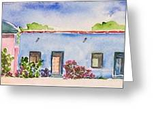 Barrio Viejo Greeting Card by Regina Ammerman