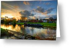 Barrow Sunset Greeting Card