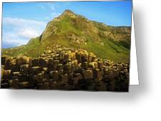 Basalt Rock Formations Near A Mountain Greeting Card