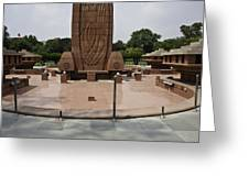 Base Of The Jallianwala Bagh Memorial In Amritsar Greeting Card