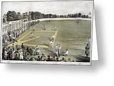Baseball, 1866 Greeting Card