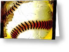Baseball Abstract Greeting Card