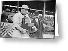 Baseball: Camera, C1911 Greeting Card