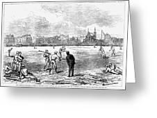 Baseball: England, 1874 Greeting Card