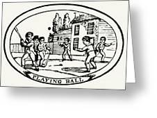 Baseball Game, 1820 Greeting Card