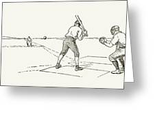 Baseball Game, 1889 Greeting Card