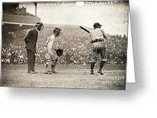 Baseball Game, 1908 Greeting Card